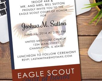 BSA Court of Honor Invitation/Announcement