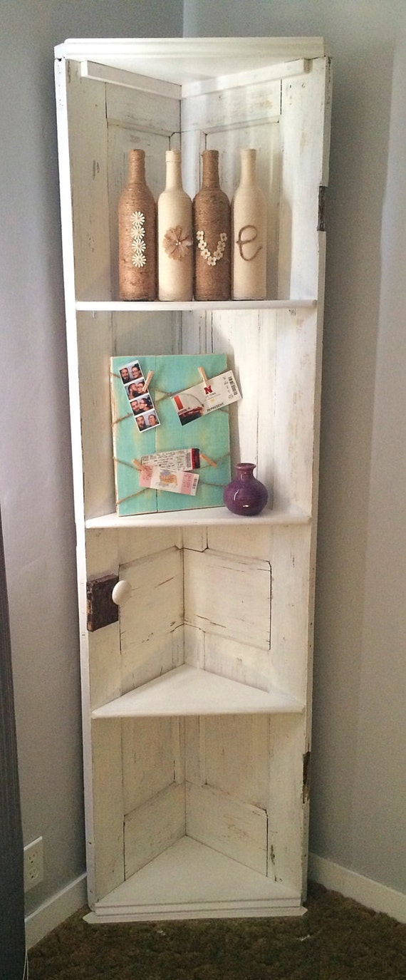 corner shelf door shelf repurposed door bookcase upcycled. Black Bedroom Furniture Sets. Home Design Ideas