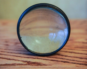 Vintage Metal Magnifying Lens for a Magic Lantern or Paperweight