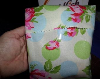 Reusable sandwich/snack bags - floral print