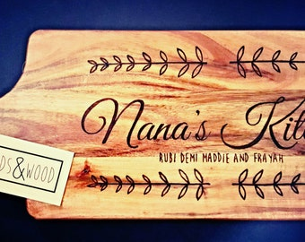 Personalised Chopping boards - Nana's Kitchen