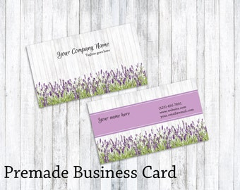 Business Card - Custom premade Business Card design - Floral Business card - Boutique business card
