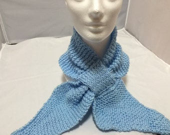Neck warmer scarf light blue #1026