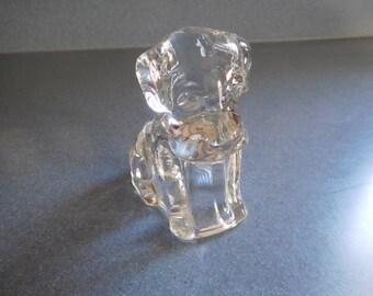 Vintage Glass Sitting Dog