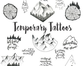 Temporary Tattoos-Set Two