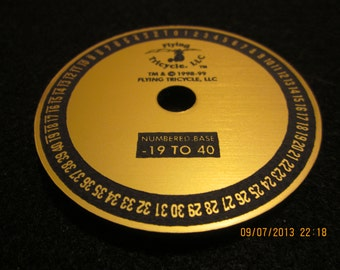 Numerical Dial inlaid with 14k gold (-19 to 40)