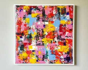 One Wish - Original art. Abstract art.  Painting. Abstract painting. Canvas painting. Quality. Palette knife painting.  Housewarming gift.