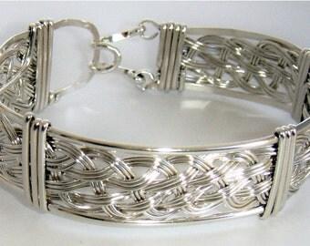 244 - Double Weave in Sterling Silver 22 gauge