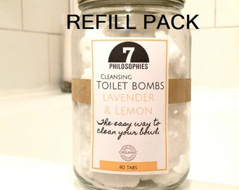 Toilet Bombs 40 pcs Refill pack - All Natural - 12 oz, Toilet Fizz, Bathroom Cleaner, Essential Oils