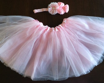 Light pink tutu and headband