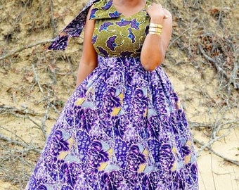 African Mix-Print Dress- up to size 14/16