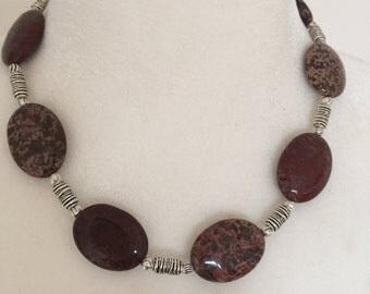Sale - Natural Stone Necklace, Jasper Necklace.