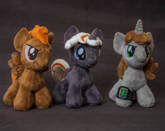 Plush Fallout Equestria Littlepip Deadshot Calamity Velvet Remedy Custom Chibi Pony 8 inches