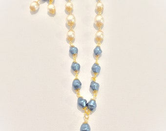 Glass Pearl necklace and earings
