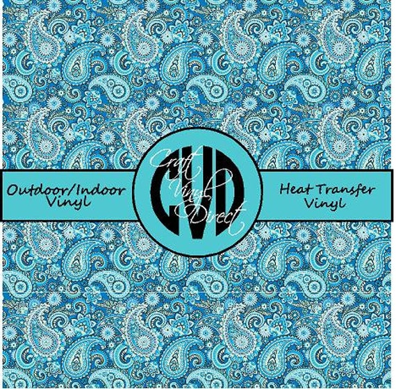 Beautiful Paisley Patterned Craft Vinyl and Heat Transfer Vinyl in Pattern 420