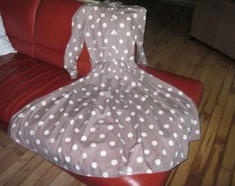 Vintage Table Eight Australia Poker Dotted Maxi Cotton Dress