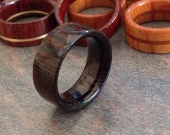 Wenge wood ring.Shine finish.