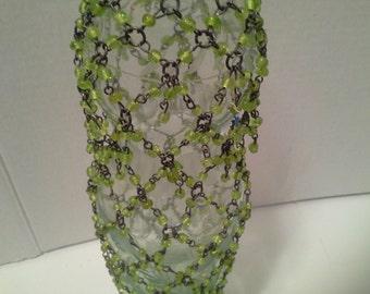 Bead covered bottle