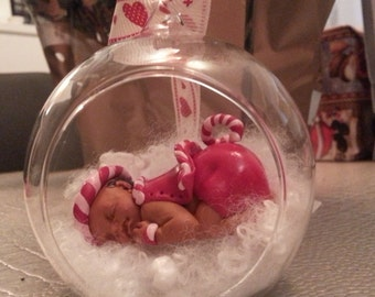 Baby fimo Christmas in a glass ball