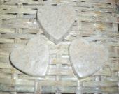 Vanilla Oatmeal Heart Organic Glycerine Goat Milk Soap - Set of 3