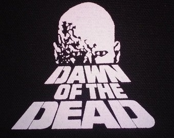 Dawn of the Dead PATCH canvas screen print HORROR - Zombies, George Romero