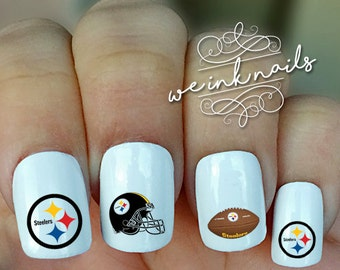 Steelers nail decals   Etsy
