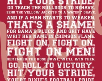 University of Alabama Fight Song *Digital File*