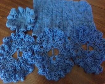 Crochet Vintage Doilies set of 6