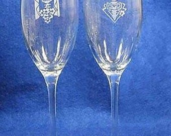 Skeleton Day of the Dead Wedding Toasting Glasses personalized