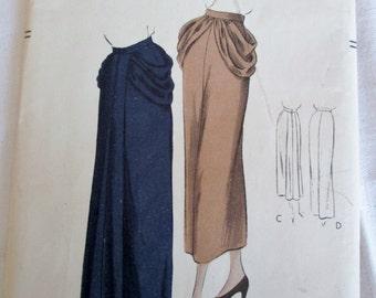 Rare Vintage Vogue Pattern 6733, Vtg Vogue Skirt Pattern, Rare Vogue Pattern, Easy to Make Vogue Pattern