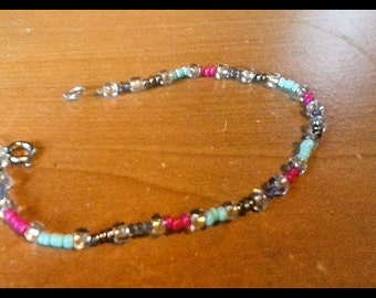 Beaded bracelet made by hands