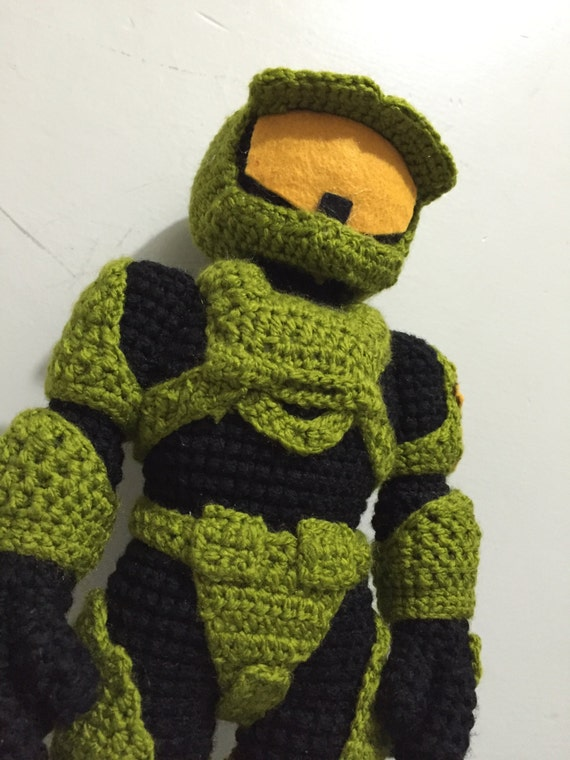 Halo, master chief, amigurumi, mark II, crochet, doll, XBOX