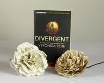 Divergent Single Paper Flower Using A Second Hand Novel