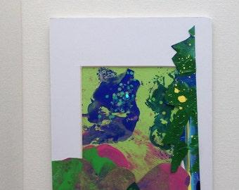 Mixed Media, Acrylic, 5x7, Encouragement
