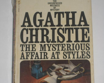 The Mysterious Affair at Styles by Agatha Christie halloween mystery paperback classic