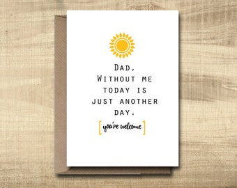 Printable Father's Day Card -- Make Your Own Cards at Home, instant download, DIY Card, digital download, print at home