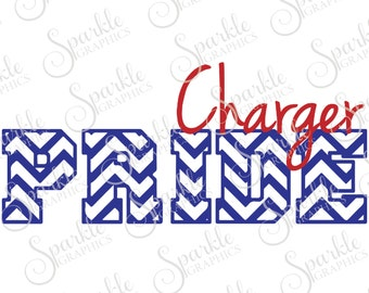 Charger Pride Cut File Charger Mascot High School Charger School Pride Clipart Svg Dxf Eps Png Silhouette Cricut Cut File Commercial Use