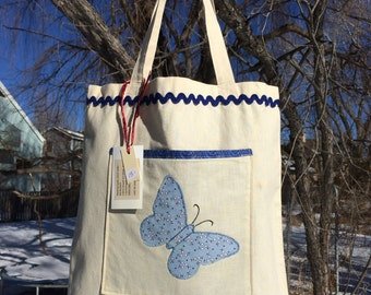 Butterfly Handmade Tote Bags