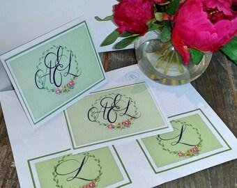 Printable Monogrammed Note Cards