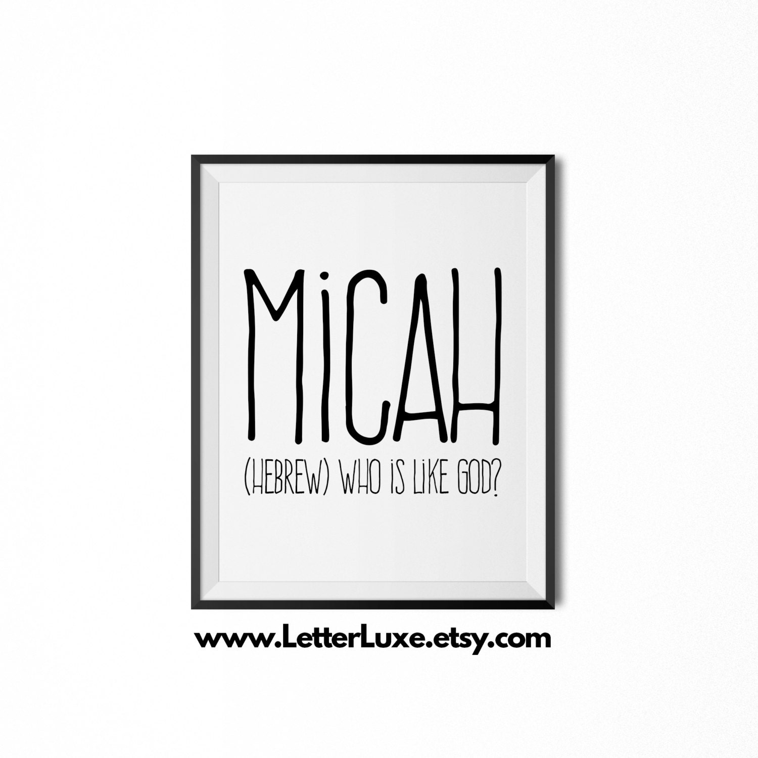 Micah printable kids gift name meaning art baby shower zoom negle Gallery