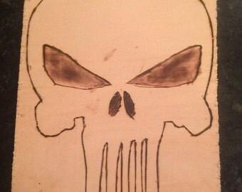 Skull Pyrography