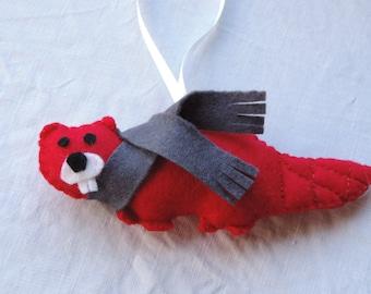 Felt Canadian Beaver w Hanger