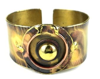 Circle Within Brass Brass Cuff