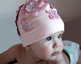 baby girl hat, girl's bonnet
