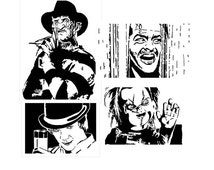 Scroll saw patterns - 4 Instant download - The Shining - Curse of Chucky - A Clockwork Orange - Freddy Krueger