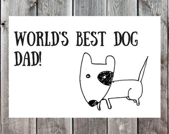 Funny Dog Dad Card, Father's Day Card, Happy Fathers Day, Cards for Dog Dads, Cards for Dad, Dad Cards, Hilarious Fathers Day, Dog Dad