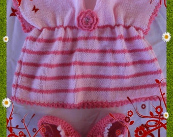 little dress baby size 3 months with its ballerinas