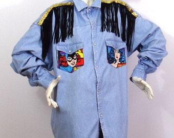 Long shirt ASKustom4U Wonder woman Dynay Jeanswear Brand