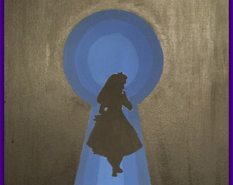 A look through the keyhole canvas painting
