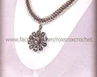 adaptable set bracelet necklaces pendant black non tarnish chain silver cotton thread uk necklace